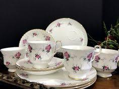 vintage l m royal halsey very fine china pink tea cup and saucer