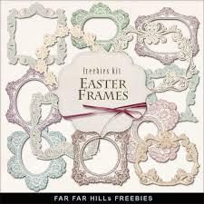 freebies kit of easter frames far far hill free database of