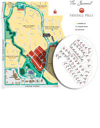 the summit available homes lot map heritage hills