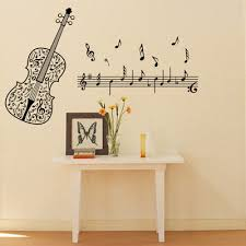 Music Note Decor Aliexpress Com Buy Wall Art Home Decoration Art Violin Music
