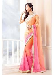 peach color u0026 peach color chiffon party wear saree