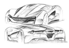 ferrari sketch car skatching sketch world