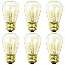 outdoor incandescent light bulbs amazon com newhouse lighting 6 pack 11 watt s14 incandescent string