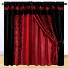 Red And Black Bedroom by Red Curtains For Bedroom Trends Including Lush Decor Faux Silk