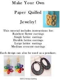 quilling earrings tutorial pdf free download tutorial for paper quilled earrings meylah