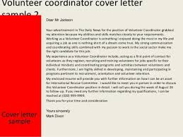 sample cover letter for volunteer position in hospital