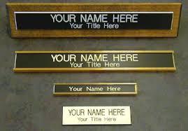Custom Desk Name Plates by 1
