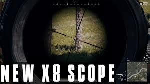 pubg zoom scope battlegrounds new x8 crosshair scope zoom kills pubg update