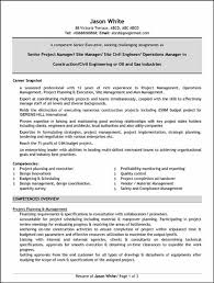 Sample Construction Project Manager Resume Construction Project Manager Resume Examples Free Resume Samples