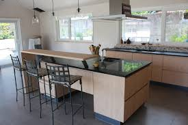 photo de cuisine avec ilot cuisine avec îlot et retour bar david giller menuiserie