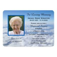 Funeral Service Announcement Wording Memorial Service Invitations U0026 Announcements Zazzle Canada