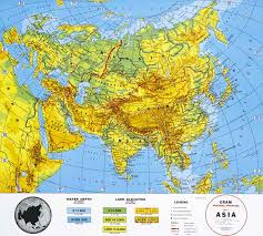 asia map with labels maps of the world physical map of asia small