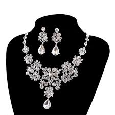 wedding necklace bride images Women 39 s wedding jewellery sets fashion bride earrings pendant jpg