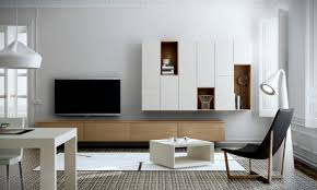 Tv Wall Furniture Contemporary Tv Wall Unit Wooden Lacquered Wood La Sala