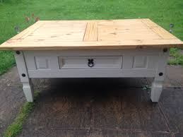 shabby chic mexican pine coffee table upcycled furniture
