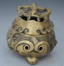 pixiu statue brass lion pixiu beast statue incense burner daming