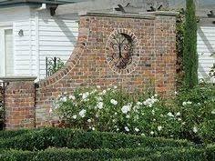 brinker garden brick wall and fountain concrete block