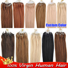 strand by strand hair extensions custom color size micro ring loop remy hair extensions