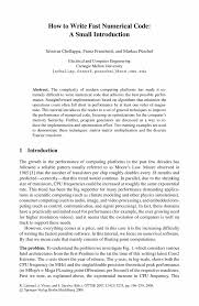 how to write an ieee paper how to write fast numerical code a small introduction springer inside