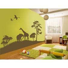 stickers savane elephant girafe chambre bébé