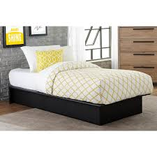 Build Easy Twin Platform Bed by Maven Upholstered Faux Leather Platform Bed Black Multiple Sizes