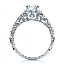 milgrain engagement ring engagement ring with micro pave milgrain filigree