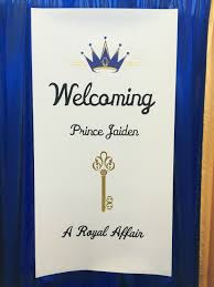 banner sign for a baby boy prince theme shower kamala u0027s designs