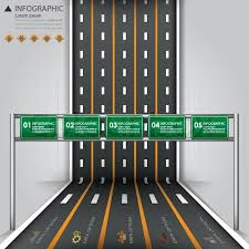 street u0026 road traffic sign business infographics design template