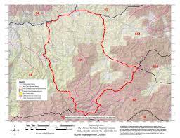 Elk Population Map Colorado Big Game Gmu 54 55 66 67 551 Hunting Map Bundle Map The