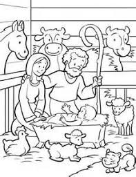 jesus manger coloring advent christmas ephipany