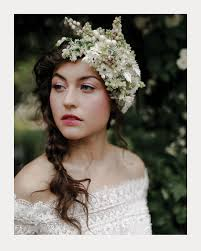 bridal headpieces wintery white floral bridal headpieces mon cheri bridals