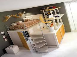 loft bunk desk combo mixing work with pleasure beds desks