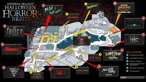 halloween horror nights 19 official halloween horror nights orlando 2017 map revealed