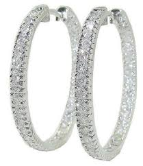 inside out diamond hoop earrings inside out diamond hoop earrings ebay