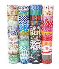 Washi Tape   amazon com washi tape set of 48 rolls decorative washi masking