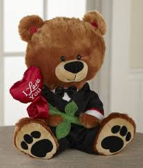 teddy delivery dressed up for plush teddy at from you flowers