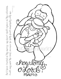 how long o lord coloring page 8 5x11 bible journaling