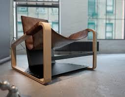 Chaise Industrielle En M C3 A9tal Par Henri Résultat Supérieur 50 Impressionnant Fauteuil Design Cuir Et Bois