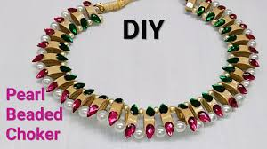pearls necklace making images How to make pearls jewellery at home pearls necklace jpg