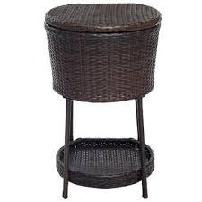 Patio Ice Cooler by Goplus Ice Cooler Bar Table Bucket Chest Outdoor Drinks Patio