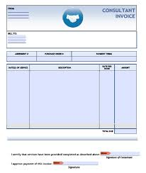 free consulting invoice template excel pdf word doc