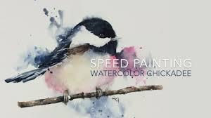 Watercolor Tutorial Chickadee | speed painting loose watercolor chickadee youtube