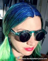 Hair Color Spray For Roots How To Make Your Own Hair Glitter Tutorial Rainbow Hair Colour