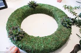 pottery barn knock faux succulent wreath the happy housie