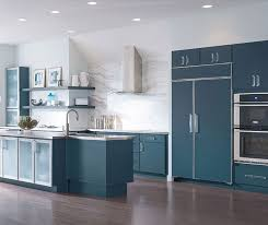 White And Blue Kitchen Cabinets Blue Painted Kitchen Cabinets Decora Cabinetry