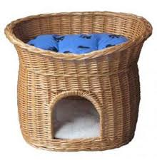 Wicker Beds Wicker Cat Beds For A Cool Nights Sleep