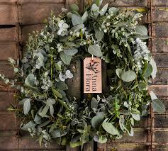 eucalyptus wreath mixed eucalyptus wreath flora bespoke floral flowers