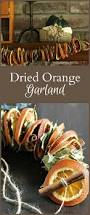 easy to make fall decorations dried orange garland with fragrant botanicals garlands