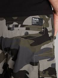 bench regular fit camo cargo shorts in black for men lyst