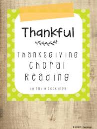 thanksgiving poem choral reading by fidgety in fourth tpt
